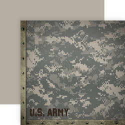 Paper House Army skräppipaperi Camo