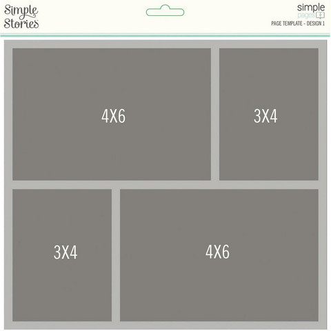 Simple Stories Simple Pages Page Template #1 -sapluuna