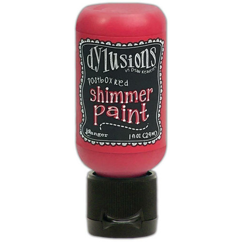 Dylusions Shimmer Paint -akryylimaali, sävy Postbox Red