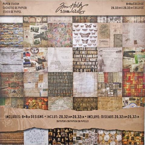 Tim Holtz Idea-Ology paperikko Collage