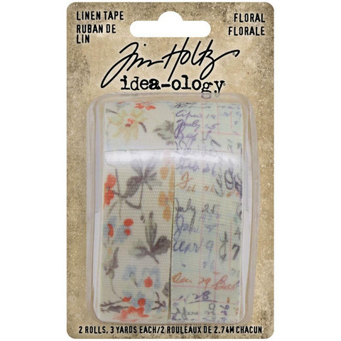 Tim Holtz Idea-Ology Linen -teippi Floral