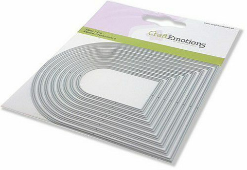 CraftEmotions Edges Arched Frame -stanssi