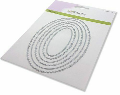 CraftEmotions Scalop Ovals -stanssi