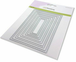 CraftEmotions Scalop Rectangles -stanssi