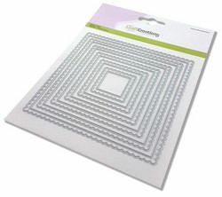 CraftEmotions Scalop Squares -stanssi