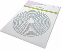 CraftEmotions Scalop Circles -stanssi