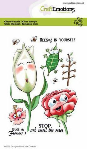 CraftEmotions leimasinsetti Bugs & Flowers 1