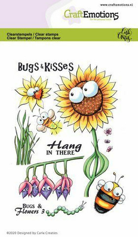 CraftEmotions leimasinsetti Bugs & Flowers 3