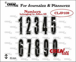 Crealies Journalzz & Plannerzz -leimasinsetti Numbers