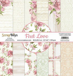 ScrapBoys paperipakkaus First Love, 12