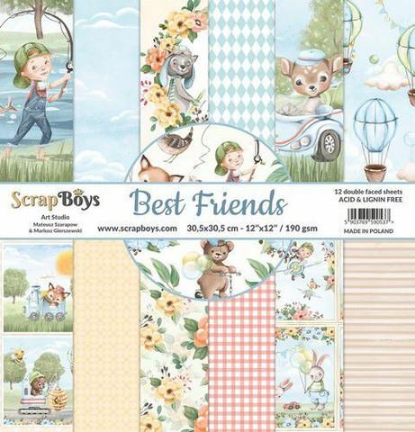 ScrapBoys paperipakkaus Best Friends,12