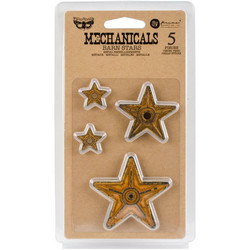 Finnabair Mechanicals -metallikoristeet Barn Stars