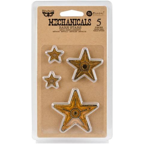 Finnabair Mechanicals -metallikoristeet Barn Stars