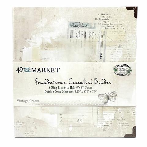 49 and Market Foundations Essential Binder- kansio, Vintage Cream