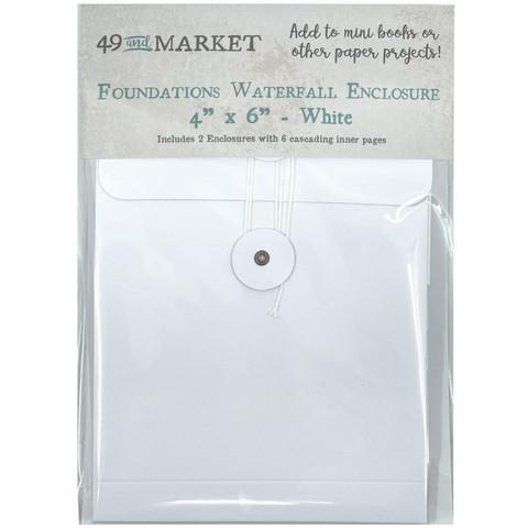49 and Market Foundations Waterfall Enclosure, valkoinen, 2 kpl