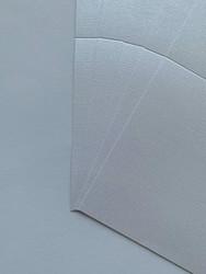 Helmiäiskorttipohja, Satin Linnen, valkoinen, 13.5 x 27 cm, 10 kpl