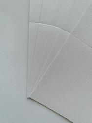 Helmiäiskorttipohja, Satin Fiber, valkoinen, 13.5 x 27 cm, 10 kpl