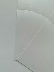 Helmiäiskorttipohja, Satin Pollen, valkoinen, 13.5 x 27 cm, 10 kpl