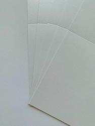 Helmiäiskorttipohja, Satin, valkoinen, 13.5 x 27 cm, 10 kpl