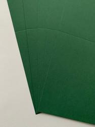 Korttipohja, Satin, vihreä, 13.5 x 27 cm, 10 kpl