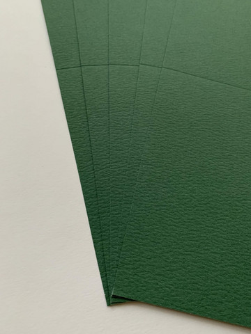 Korttipohja, Parizma, vihreä, 13.5 x 27 cm, 10 kpl