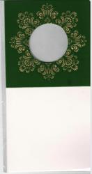 Korttipohja, Veluuri 1, vihreä, 13.5 x 27 cm, 4 kpl