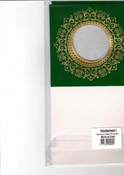 Korttipohja, Veluuri 2, vihreä, 13.5 x 27 cm, 4 kpl