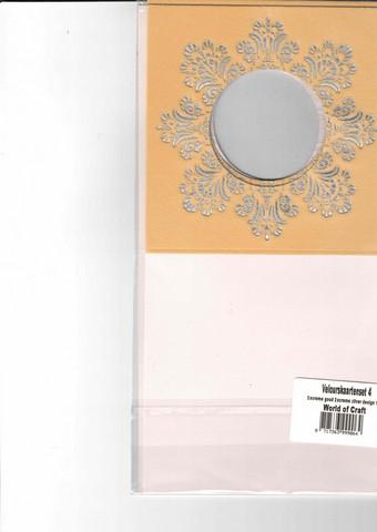 Korttipohja, Veluuri 4, beige, 13.5 x 27 cm, 4 kpl