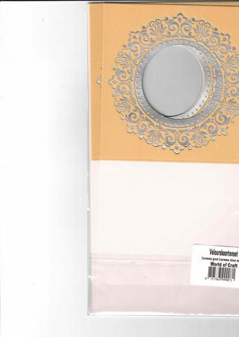 Korttipohja, Veluuri 5, beige, 13.5 x 27 cm, 4 kpl