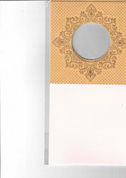 Korttipohja, Veluuri 6, beige, 13.5 x 27 cm, 4 kpl