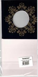 Korttipohja, Veluuri 7, musta, 13.5 x 27 cm, 4 kpl