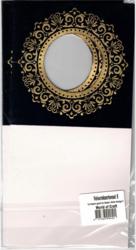 Korttipohja, Veluuri 8, musta, 13.5 x 27 cm, 4 kpl
