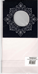 Korttipohja, Veluuri 9, musta, 13.5 x 27 cm, 4 kpl
