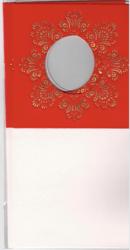 Korttipohja, Veluuri 10, punainen, 13.5 x 27 cm, 4 kpl
