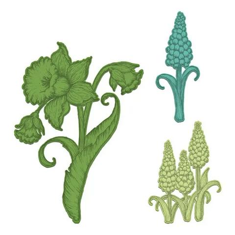 Heartfelt Creations Delightful Daffodil & Hyacinth -stanssi