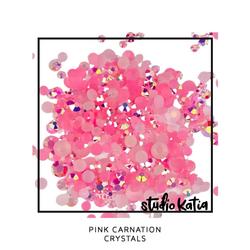 Studio Katia koristeet Pink Carnation, tekokristallit