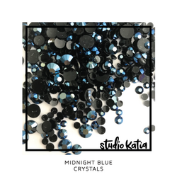 Studio Katia koristeet Midnight Blue, tekokristallit
