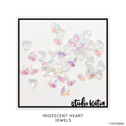 Studio Katia koristeet Iridescent Heart Gems