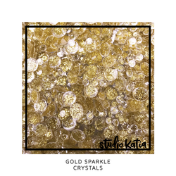 Studio Katia koristeet Gold Sparkle Crystals