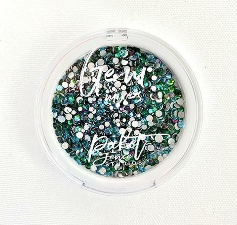 Picket Fence Gem Mixes - Oceans of Green -koristeet