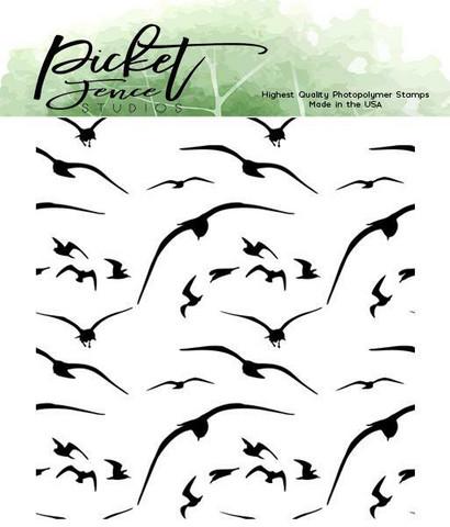 Picket Fence leimasin Birds in Flight
