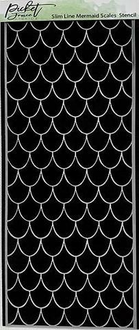 Picket Fence sapluuna Slimline Mermaid Scales