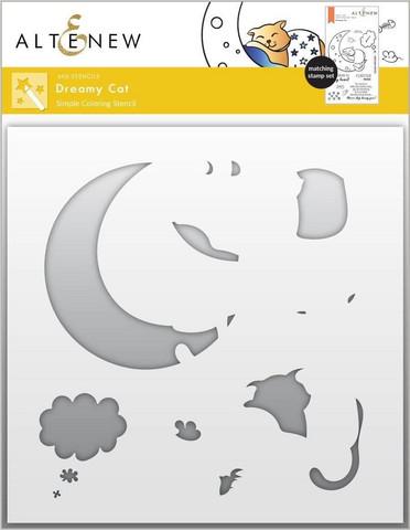 Altenew Dreamy Cat Simple Coloring -sapluuna