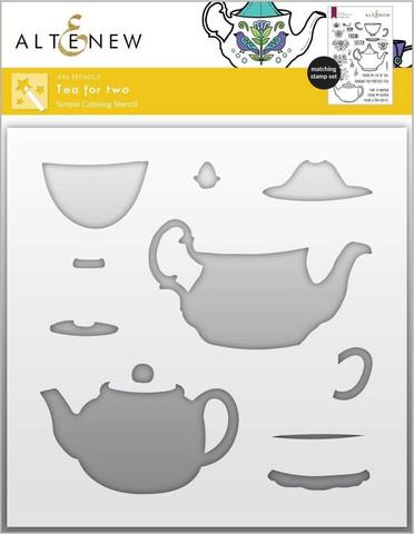 Altenew Tea for Two Simple Coloring -sapluuna