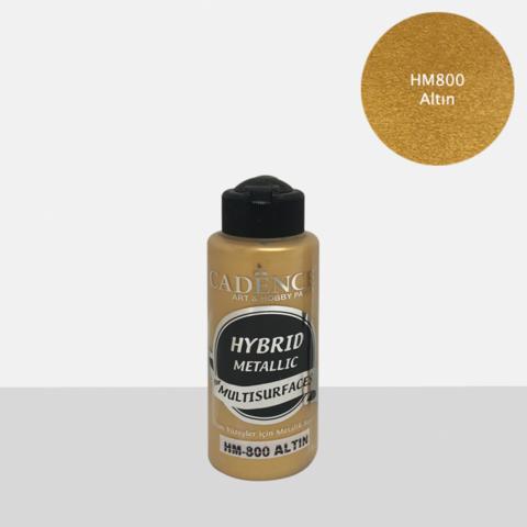 Cadence Hybrid Metallic Acrylic -akryylimaali, sävy Gold, 120 ml