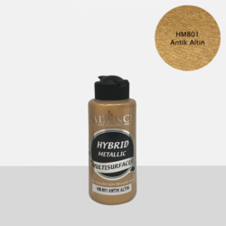 Cadence Hybrid Metallic Acrylic -akryylimaali, sävy Antique Gold, 120 ml