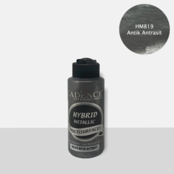 Cadence Hybrid Metallic Acrylic -akryylimaali, sävy Antique Anthracite, 120 ml