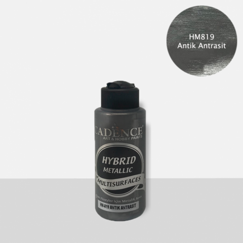 Cadence Hybrid Metallic Acrylic -akryylimaali, sävy Antique Anthracite, 120 ml