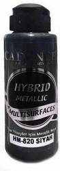 Cadence Hybrid Metallic Acrylic -akryylimaali, sävy Black, 120 ml