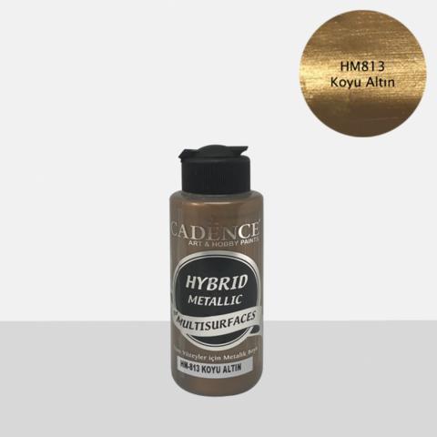 Cadence Hybrid Metallic Acrylic -akryylimaali, sävy Dark Gold, 120 ml